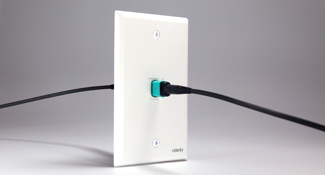 fine liberty wire and cable black usb wall plate